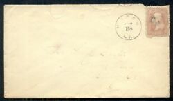 1867, 79, 3¢ Grilled All Over On Cover W/macon Ga Cds., Scott 2,000+