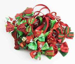 Assorted Christmas Dog Cat Bow Ties Adjustable Collars Bowties For Pet Puppy