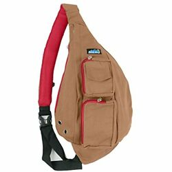 Sling Backpack Bag - Small Single Strap Crossbody Pack Women Men (Tobacco Brown)