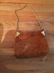 BEAUTIFUL GUCCI Vintage Rust Suede Hobo Bag. Very rare!