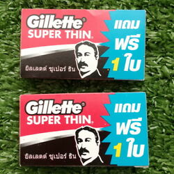 20pack 120ps Razor Blades Gillette Super Thin New Improved Stainless Single Edge