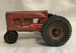 Vintage Hubley Jr. Kiddie Toy 7 Narrow Front End Red Farm Tractor Made In Usa