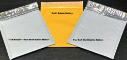 Choose Material And Quantity 1-3000   Tuff Bubble, Kraft Or Poly Bubble Mailers  