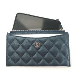 NIB CHANEL CLASSIC O CASE PHONE POUCH CASE WALLET RARE FIND
