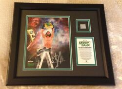 WWE Seth Rollins signed Money In The Bank  SOLE 199400 with LADDER RUNG PIECE!