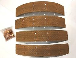 Rover 60 And 75 1948 - 1949 Rear Brake Linings And Rivets Rj298