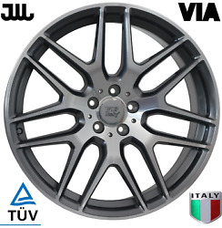 For Mercedes Benz Gls Gl Ml Gle Wheels Rims 21 Inch 21x10 Flow Forming Silver