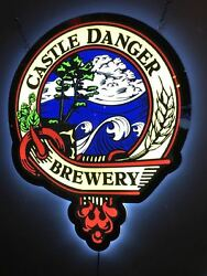 New Castle Danger Brewery Logo Man Cave Led Neon Sign 20