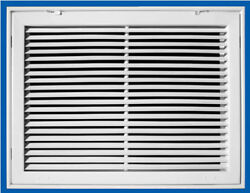 Return Air Filter Grille 24 X10. Fixed Bar. Steel White Truaire 290 Series