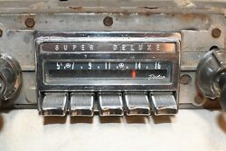 1964 Pontiac Radio 984077 Presets Work And Dial Moves Needle Untested