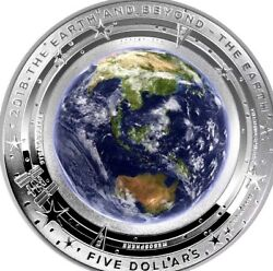 2018 5 Coloured Silver Proof Domed Coin The Earth And Beyond Now Sold Out