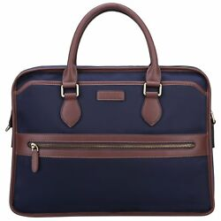 Banuce Waterproof Nylon and Faux Leather Briefcase for Men Messenger Bag 14 Inch