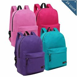 Wholesale 16.5 Inch Backpacks for Girls - Case of 24 MGgear Bulk School Bags