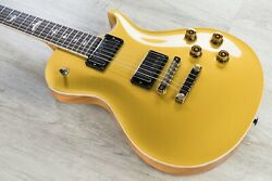PRS Paul Reed Smith Wood Library Singlecut 594 Electric Guitar Gold Top 2 + Case
