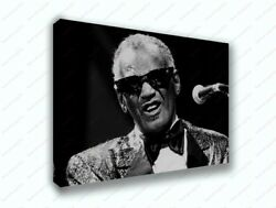 Ray Charles Black And White Design Music Poster Canvas Print Art Decor Wall