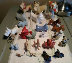 Mixed Lot 20 Vintage Mid-Century SCOTTIE SCOTTISH TERRIER DOGS  Figurines Japan