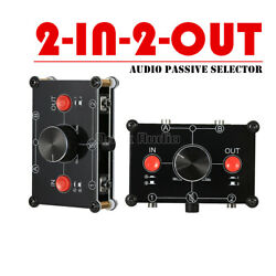 2 In 2 Out 3.5mm Stereo Analog Selector Audio Switcher Passive Preamp Splitter