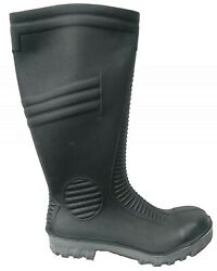 Wellington Boots Steel Toe Cap Wellies Safety Work Waterproof Garden Black Grey