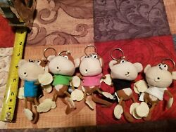 Monkey KeyChain Key Ring soft with Tee-Shirt and Cute lil Mouse  NEW Great Gift  $9.99