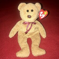 Curly The Bear Retired W/ Tag Errors Ty Beanie Babies