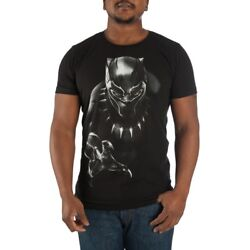 Marvel Black Panther Character Men's Black Tee T-Shirt