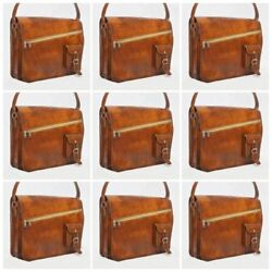 Retro Men's Real Leather Messenger Shoulder Bag SATCHEL Crossbody Casual College