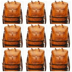 Men Leather Shoulder Bag Backpack Cross Body Man Satchel Bag Wholesale Lot 5 Pcs