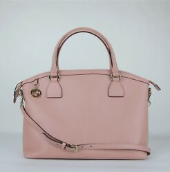 Gucci Powder Pink Leather GG Charm Convertible Dome Bag with Strap 449660 5806