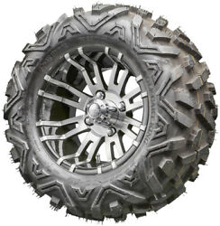 12 Rhox Rx270 Machined Golf Cart Wheels And All Terrain Tires Combo Set Of 4
