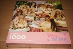 Springbok The Doll's Tea Party 1000 Piece 24 X 30 Jigsaw Puzzle Made In Usa