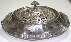 Towle Louis Xiv Sterling Silver Serving Tray 3822 W/ Flower Frog 90097-13dbw