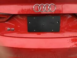 Rear License Plate Mount Tag Bracket For Audi A3 S3 2014-2021 + Screws Brand New
