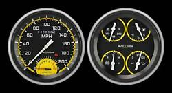 1951-1952 Chevrolet Chevy Direct Fit Gauge Auto Cross Yellow Ch51axy62