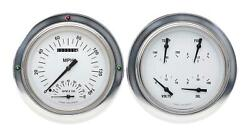 1954-1955 Chevrolet Chevy Truck Direct Fit Gauge White Hot Ct54wh62
