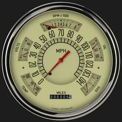 1949-1950 Ford Direct Fit Gauge Tan Fc49t