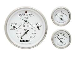 1957 Chevrolet Chevy Direct Fit Gauge White Ch01wslf