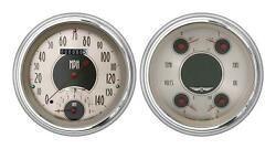 1951-1952 Chevrolet Chevy Direct Fit Gauge American Nickel Ch51an62