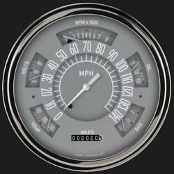 1949-1950 Chevy Classic Line Direct Fit Gauge Gray Ch49g