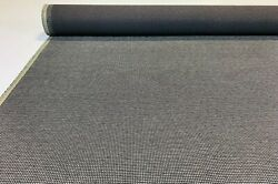 Vintage Charcoal Gray Tweed Automotive Seat Cover Fabric Upholstery Auto 55w