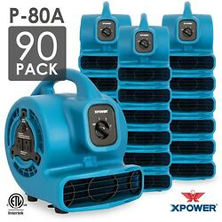 XPOWER P-80A 18 HP Mini Air Mover Carpet Dryer Blower Floor Fan 90 Pack