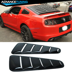 Fits 10-14 Mustang Oe Factory Window Louver Side Panel Painted Gloss Black