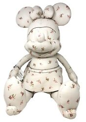 Coach X Disney Large Minnie Mouse Doll Ivory Flowers Leather Limited F28379