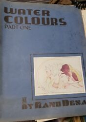 Old Vintage Indian Water Color Paintings Prints Folder From India 1944