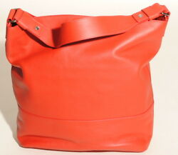 SHINOLA DETROIT Womens Chili Red Leather Relaxed Hobo Purse Bag  $895