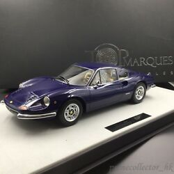 Top Marques 1/12 Dino 246 GT 1972 Blue TOP12-02C