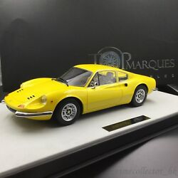 Top Marques 1/12 Dino 246 GT 1972 Yellow TOP12-02B