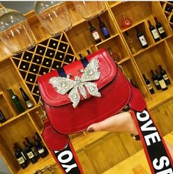 Bags Women Crossbody Designer High Quality Leather Flap Bag Wide Straps Messenge