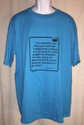 Vintage Henry David Thoreau Different Drummer Quote t-shirt size adult XL  $14.95