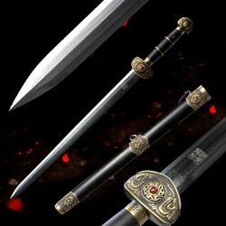 High Quality Home-guarding and exorcising sword Folded pattern steel sharp #4982