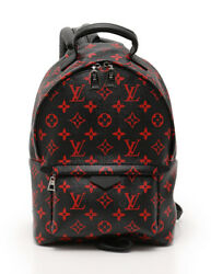 LOUIS VUITTON Palm Springs PM Monogram enfleurage backpack PVC leather red